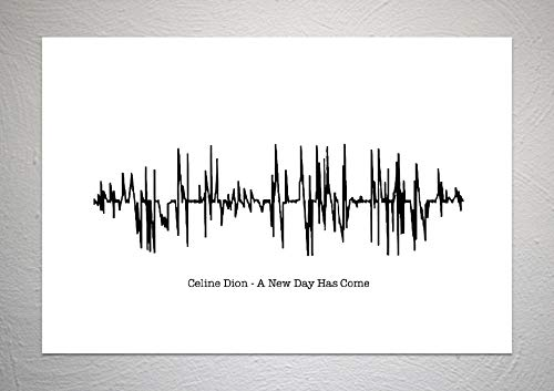 Funky Art Prints Celine Dion Kunstdruck A New Day Has Come - Sound Wave Song, DIN A4