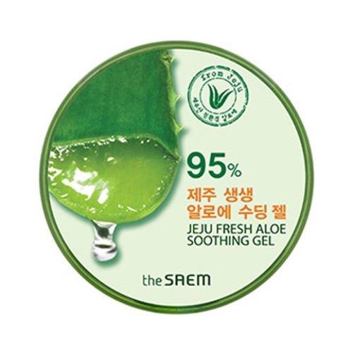 (6 Pack) the SAEM Jeju Fresh Aloe Soothing Gel 95%