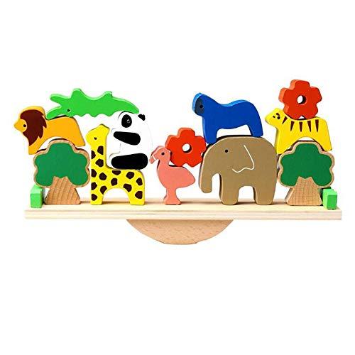 XIONGDA Holz Balance Stapeln Blöcke Tiere Balance Spiel Holz Lernspielzeug Frühe Pädagogische Gebäude Werkzeug Requisiten Kinder Geburtstag Festival Geschenk Kinder -