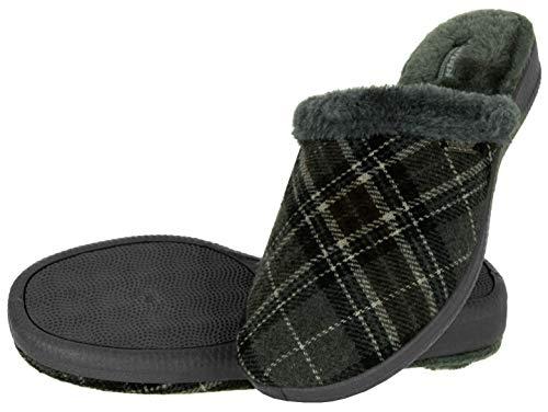 Beppi Damen Hausschuhe mit Fell - Warme Frauen Filz-Pantoffeln, Grau, 36