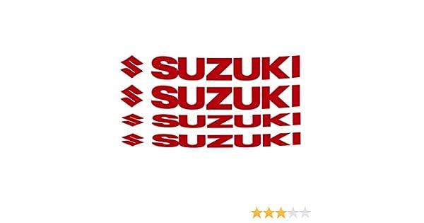 GSX-R Vstrom  031 Rosso 0274 Cod Autocollants pour int/érieur de jantes Suzuki Bandit GSX