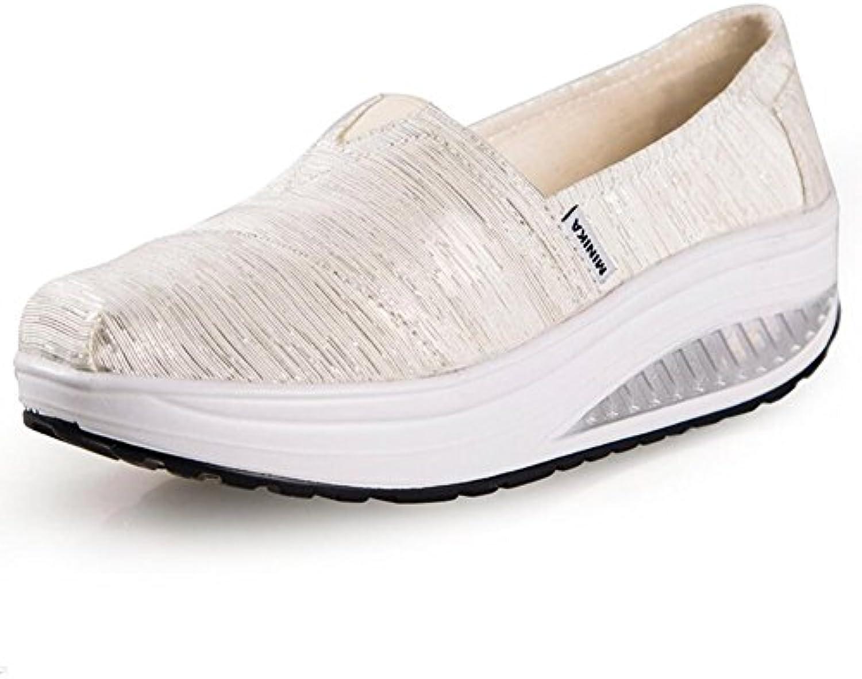 XUE Zapatos de Mujer Spring Fall Mocasines y Slip-Ons Conducción Zapatos Fitness Shake Zapatos Shake Shoes Zapatos...