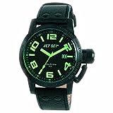 Jet Set - J2757B-417 - San Remo - Montre Homme - Quartz Chronographe - Cadran Noir - Bracelet Cuir Noir