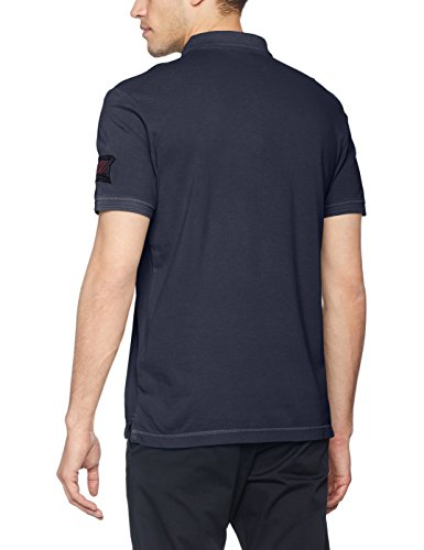 TOM TAILOR Herren Poloshirt Overdyed Polo Blau (Dark Blue 6012)