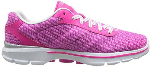 SkechersGo Walk 3 Fit Knit - Scarpe da Ginnastica Basse donna Rosa (Pink (Hpk))