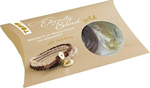 Eternity Band Set gold: Materialset für ein Wickelarmband zum Selbermachen (Mädchen Knöpfe Und Zieht)