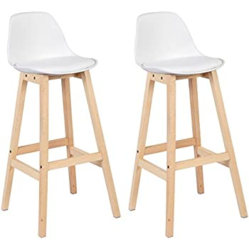 woltu bh111ws 2 sgabelli da bar coppia sedie alte per