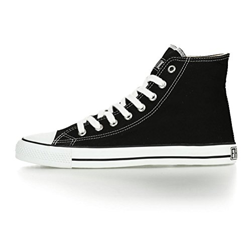 Ethletic Sneaker vegan HiCut – Farbe jet black / white aus Bio-Baumwolle – high Sneaker - 3