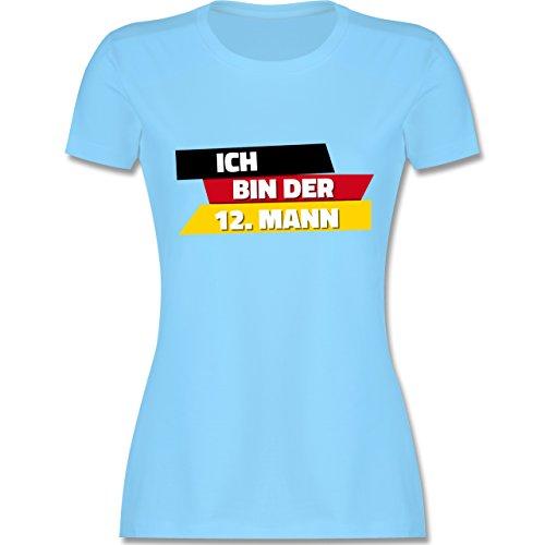 Fußball-WM 2018 - Russland - Ich Bin der 12. Mann Deutschland - Damen T-Shirt Rundhals Hellblau