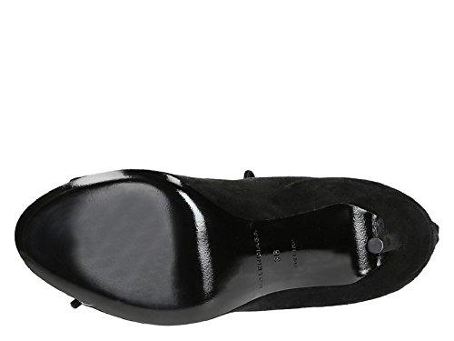 Sandales à talons hauts Balenciaga en daim noir - Code modèle: 422825 WAUR0 1000 Noir