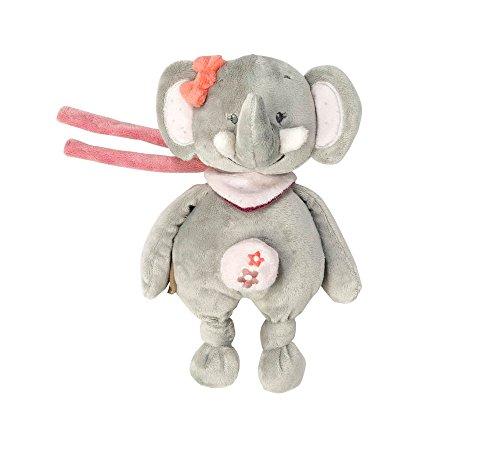 Nattou Mini Spieluhr, Mädchen, 20 cm, rosa - Adèle der Elefant