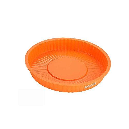Silikon Torten-Form Durchmesser ca. 24 cm Tortenboden Biskuit Backform Backförmchen Kuchenform (lebensmittelecht + geschmacksneutral)