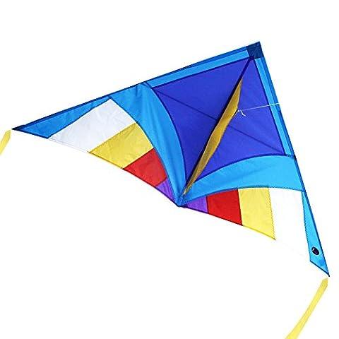 emmakites 5ft Miss Sora Delta Drachen mit doppelter Tails und Drachenschnur–einfach zu fliegen–Kite für Kinder und (Anfänger Single Line Kite)
