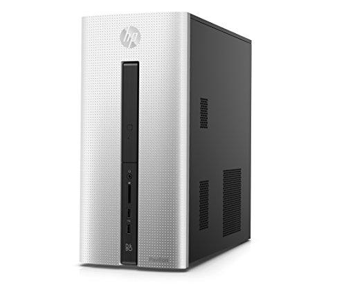 HP Pavilion 550-350nl Desktop, Processore AMD Quad-Core A10-8750, RAM 8 GB, HDD da 1 TB, Scheda Video AMD Radeon R5 330 con 2 GB dedicati, Argento