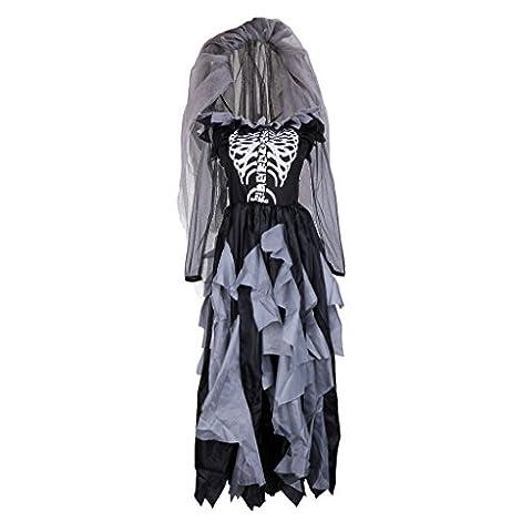 Costumes Pour Les Adultes Morts Bride Zombie - Gazechimp Déguisement de la Mariée Zombie Robe