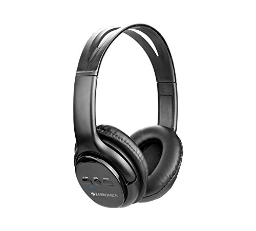 Zebronics Zeb-Aura Bluetooth Headphone with Media Control and AUX Input(Black)