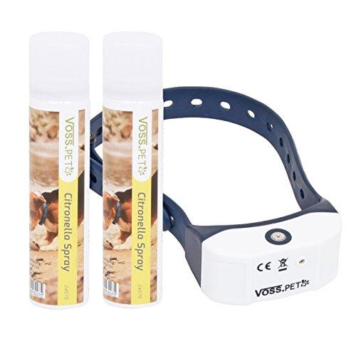 VOSS.PET Antibell Halsband AB3 Sprayhalsband Erziehungshalsband für Hunde, Inklusive 2X Spray mit Zitrusduft