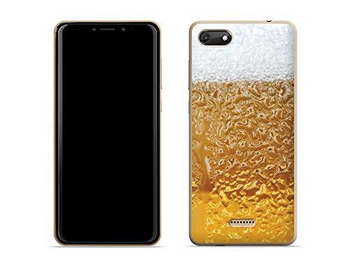 etuo Wiko Harry 2 - Hülle Fantastic Case - Bier mit Schaum - Handyhülle Schutzhülle Etui Case Cover Tasche für Handy