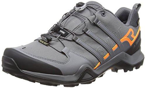 adidas Herren Terrex Swift R2 GTX Cross-Trainer, Grau (Grey F17/Grey Five F17/Hi-Res Orange S18), 50 2/3 EU
