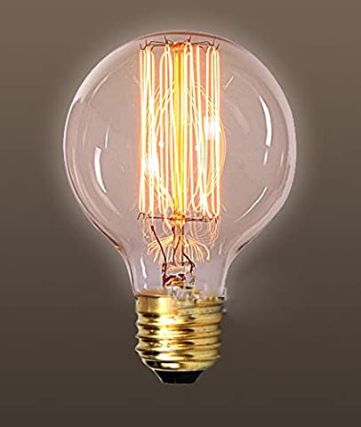 fsliving Ampoule vintage 40W/G80filament tungstène antique style droit fil Ampoules à incandescence