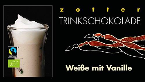 Zotter Trinkschokolade Weisse mit Vanille 5 x 22 g