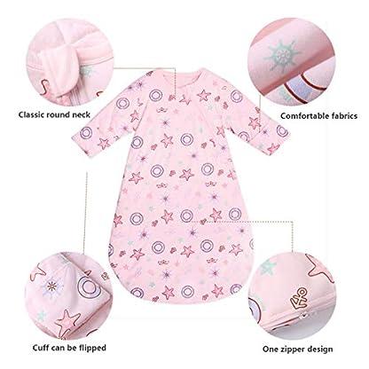 Bunnysun Saco de Dormir del bebé de Manga Larga de Invierno, 100% algodón orgánico Saco de Dormir, bebé algodón Anti-Caliente expulsado