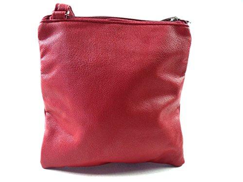 The Leather Emporium, Borsa a spalla donna Red