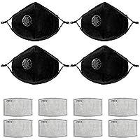 PAMASE 4 Piezas de mascarilla antipolución N95 con filtros de reemplazo de carbón Activado Lavables y Reutilizables para Hombres y Mujeres