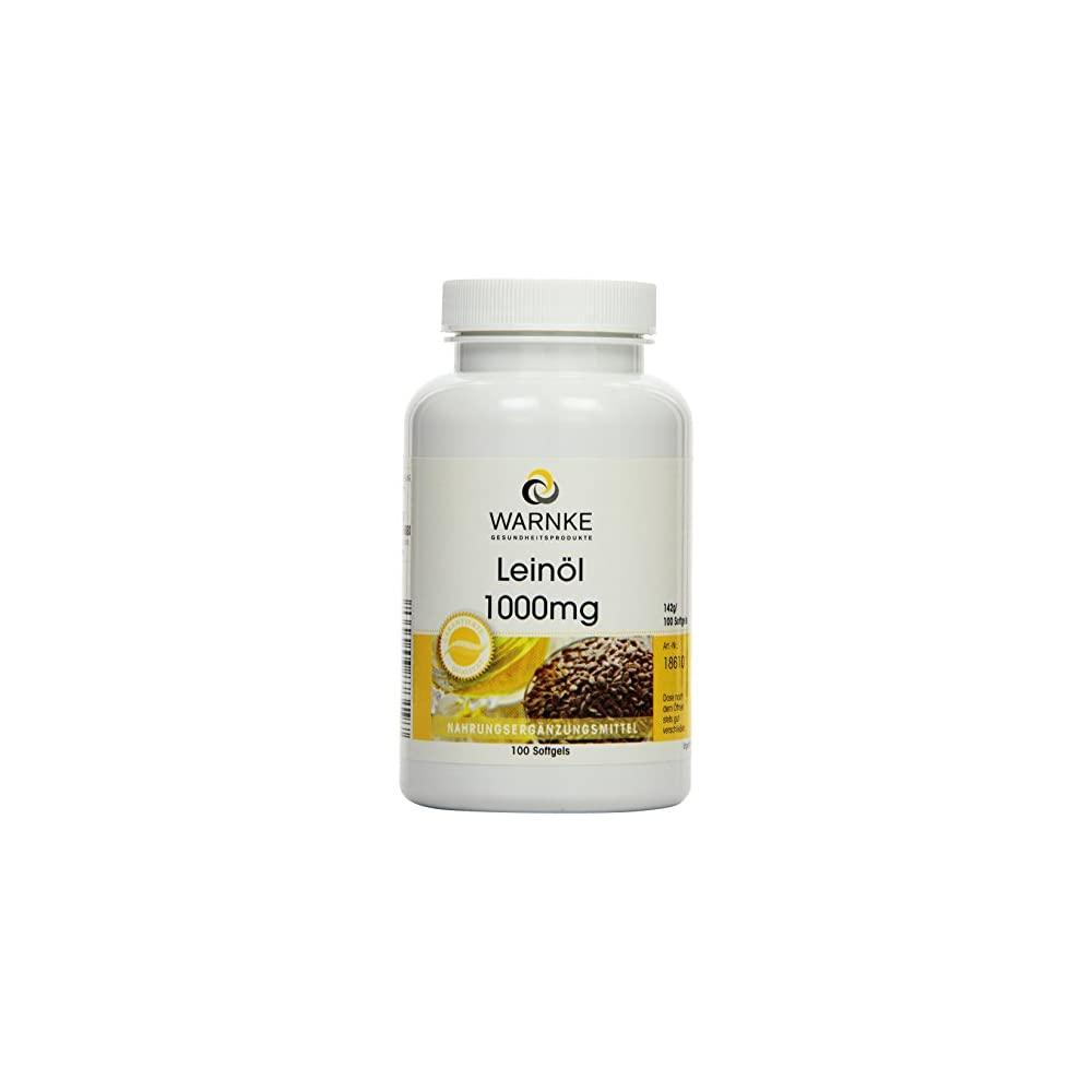 Warnke Gesundheitsprodukte Leinl 1000 Mg Kaltgepresst 526 Prozent Alpha Linolensure Omega 3 Fettsure 100 Softgels 1er Pack 1 X 142 G