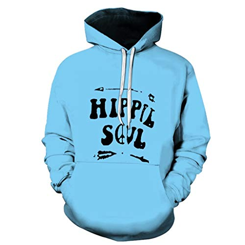 Luckycat 3D Drucken Hippie Kapuzenpullover Herren Longshirt Slim Fit Pullover Hip Hop Langarmshirt mit Kapuze Lange Sweatshirts Hoodies Shirts Oversize Freizeit Sweatshirt Herbst-Winter mit Kapuze