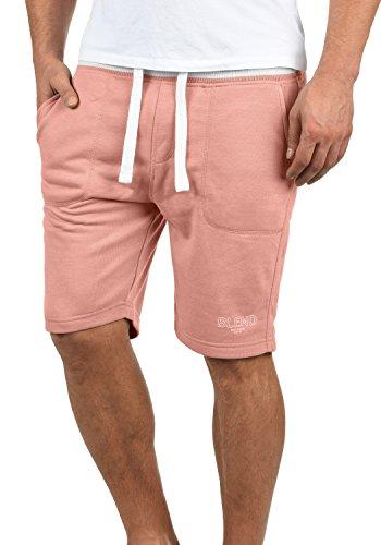 Blend Juve Herren Sweatshorts Kurze Hose Jogginghose Mit Melierung Und Kordel Regular Fit, Größe:XXL, Farbe:Rose Red (73837)