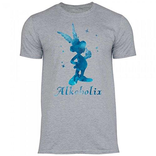 Royal Shirt a73 Herren T-Shirt Alkoholix | Idee für die Freundschaftsparty JGA, Größe:XXL, Farbe:Sport Grey (Heather)