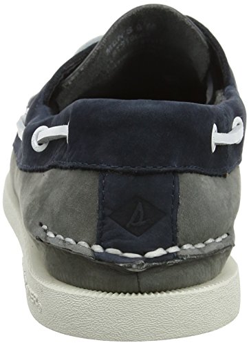Sperry Top-Sider A/O 2-Eye Washable, Chaussures Bateau Homme, Marron Multicolore (Grey/navy)