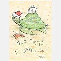 Dos Palomas de tortuga–Tarjetas de Navidad (10unidades)