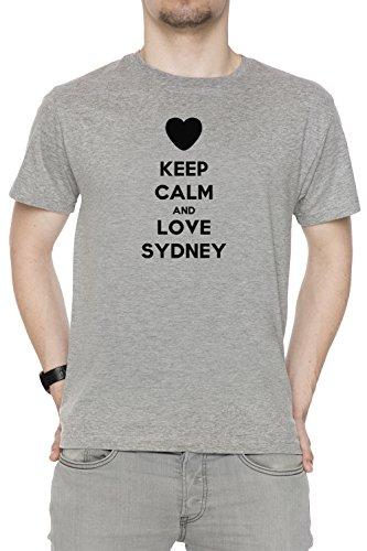 keep-calm-and-love-sydney-uomo-t-shirt-girocollo-grigio-cotone-maniche-corte-mens-t-shirt-grey