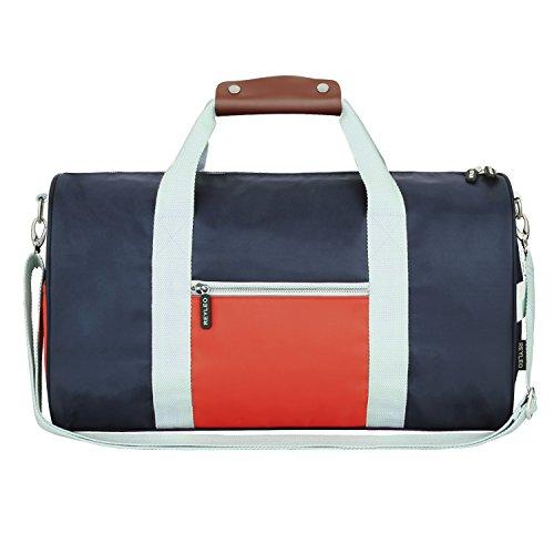 REYLEO Reisetasche Sporttasche weekender Tasche Handgepäck für Damen und Herren mit der Großen KapazitätWasserdicht Blau-27 Liter