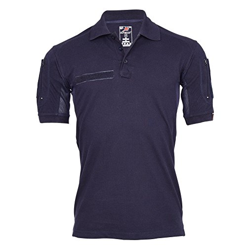feuerwehrhemd Copytec Tactical Polo-Shirt Navy Blau Polizei Feuerwehr Berufs Bekleidung Hemd #22403, Größe:S, Farbe:Dunkelblau
