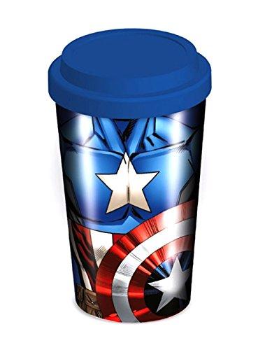 Captain America Tazza da viaggio Sheild Logo Torso in ceramica ufficiale Marvel taglia unica