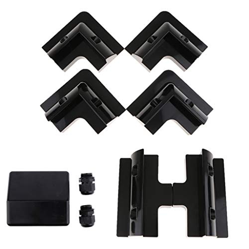 Descripción:       - Fabricado en plástico ABS, respetuoso con el medio ambiente y resistente a los rayos UV.    - Los montajes se pueden unir de manera segura a la superficie, eliminando la necesidad de perforar orificios.    - Los montajes ...