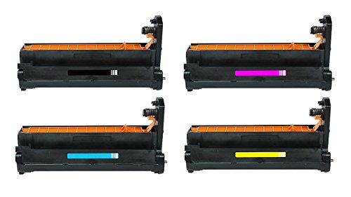 Fotoleiter-set (4x Bildtrommel / Drumkit / Fotoleiter / Trommeleinheit SET - MULTIPACK kompatibel zu OKI C 610 CDN / 610 DN / 610 DTN / 610 N, 1x black / schwarz, 20.000 Seiten, 1x rot / magenta, 1x blau / cyan, 1x gelb / yellow, für je 20.000 Seiten, ersetzt 44315108, 44315107, 44315106, 44315105)