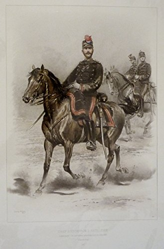 Gravure militaire d'Edouard Detaille : Chef d'escadron d'artillerie commandant les batteries divisionnaires de cavalerie (Grande tenue)