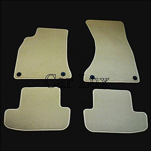 Car-Lux tappeti tappetini auto su misura, AUDI A5 Coupe/Cabrio High Line Velour: beige - Audi A5 Cabrio