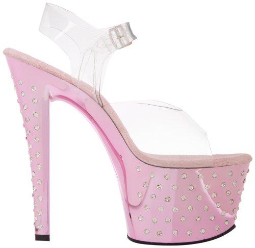 Pleaser Stardust 708, Sandales femme Baby Pink