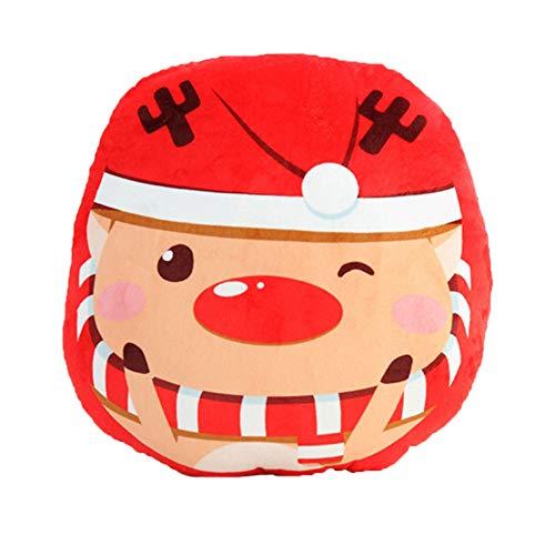 Leisial Weihnachten Hand Muffs Winter Handwärmer Armwärmer Cartoon Kissen 40cm,Weihnachtselche