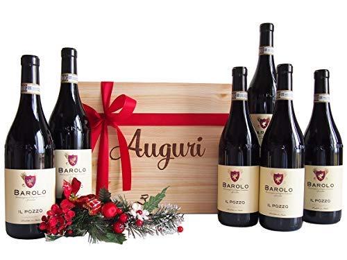 Cassetta Regalo Auguri Vino Barolo dal Piemonte - Novità Selettivo Regalo Cassette Vini per Occasione Importante - cod 82