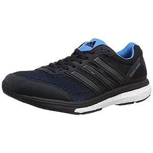 Adidas Adizero Boston Boost 5 - Zapatillas de running para hombre, Talla 41.5 EU (7.5 UK), Color Negro /Azul Solar