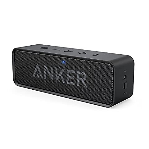 Anker SoundCore Portable Bluetooth 4.0 Stereo Speaker with 24-Hour Playtime, 6W Dual-Driver, Low Harmonic Distortion, Patented Bass Port and Built-in Microphone for Calls for iPhone, iPod, iPad, Samsung, LG and others