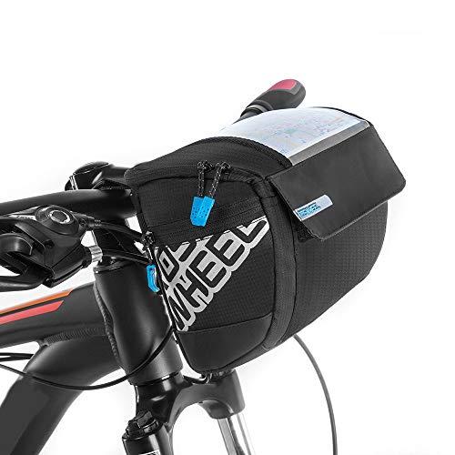 Docooler Fahrrad Lenkertasche multifunktional mit Transparentem PVC-Sichtfenster (15 *12.2 cm) für Handy, Total 3L, wasserdichtes Material, 20 * 10.5 * 16cm