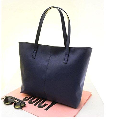 Borsa In Pelle Da Uomo Di Oyedens Fashion Handbag A Tracolla In Pelle Blu