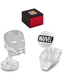Marvel Avengers Iron Man Casco Súper Héroe Gemelos Color Plata + Caja de Regalo